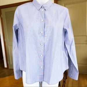 Blue cotton button-up